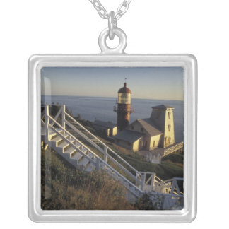 North America, Canada, Quebec, Gaspe Peninsula 2 Silver Plated Necklace