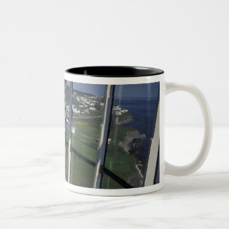 North America, Canada, Quebec, Gaspe Peninsula Two-Tone Coffee Mug