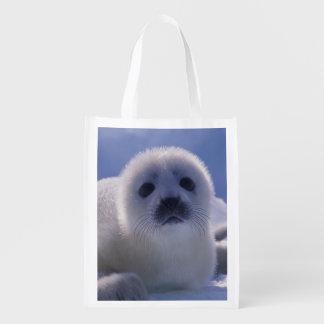 North America, Canada, Quebec, Iles de la Reusable Grocery Bag