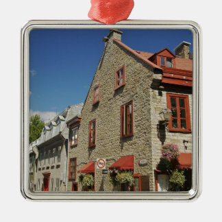 North America, Canada, Quebec, Old Quebec City. Silver-Colored Square Decoration