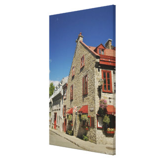 North America, Canada, Quebec, Old Quebec City. Stretched Canvas Print