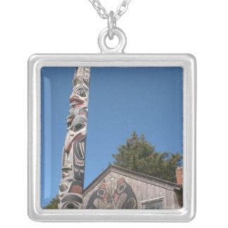 North America, Canada, Queen Charlotte Islands, 3 Square Pendant Necklace