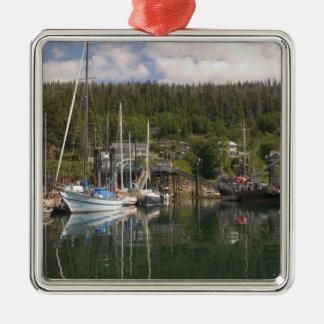 North America, Canada, Queen Charlotte Islands, 4 Silver-Colored Square Decoration