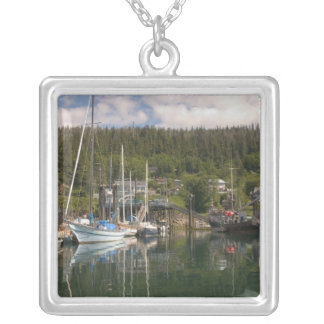 North America, Canada, Queen Charlotte Islands, 4 Square Pendant Necklace