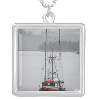 North America, Canada, Queen Charlotte Islands, Square Pendant Necklace
