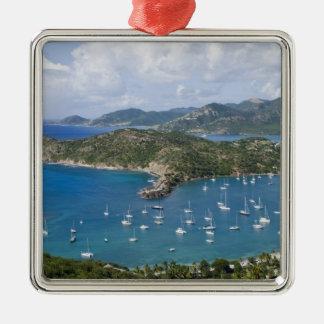 North America, Caribbean, Antigua. English Silver-Colored Square Decoration