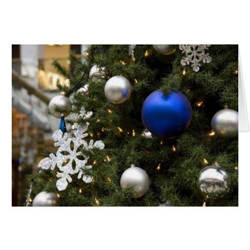 North America. Christmas Decorations On Tree.