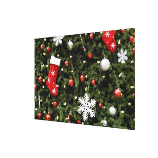 North America. Christmas decorations on tree. 2 Gallery Wrap Canvas