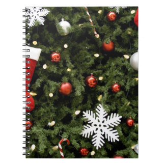 North America. Christmas decorations on tree. 2 Note Books