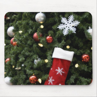 North America. Christmas decorations on tree. 5 Mouse Mat