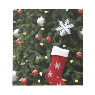 North America. Christmas decorations on tree. 5 Notepad