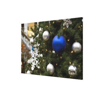 North America. Christmas decorations on tree. Canvas Prints