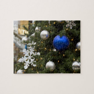 North America. Christmas decorations on tree. Jigsaw Puzzle