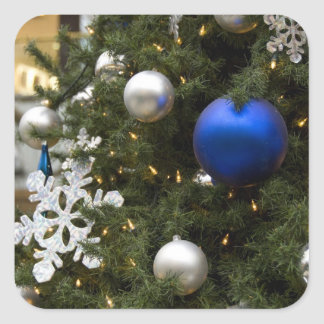 North America. Christmas decorations on tree. Stickers