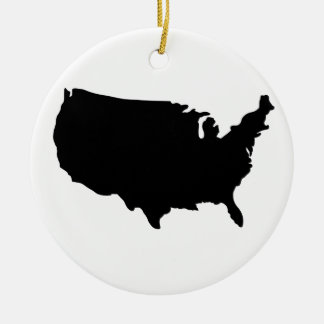 North America Christmas Ornament