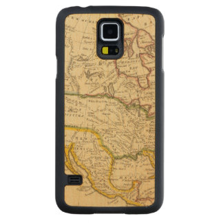 North America Engraved map Carved Maple Galaxy S5 Case
