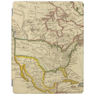 North America Engraved map iPad Cover
