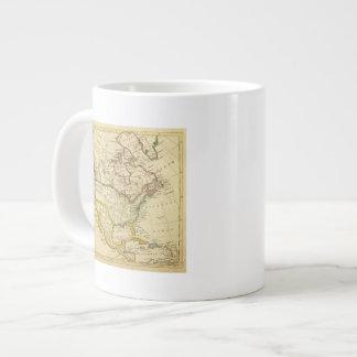 North America Engraved map Large Coffee Mug