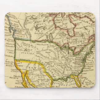 North America Engraved map Mouse Mat
