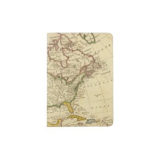 North America Engraved map Passport Holder