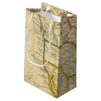 North America Engraved map Small Gift Bag