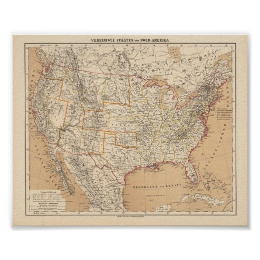 North America Flemming, Carl 1865 Reproduction Poster