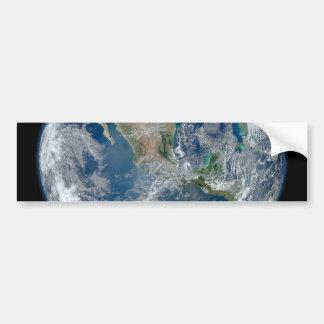 North America from low orbiting satellite Bumper Sticker
