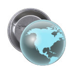 North America Glass Globe Buttons