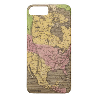 North America Hand Colored Atlas Map iPhone 8 Plus/7 Plus Case