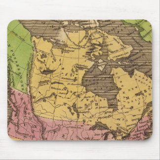 North America Hand Colored Atlas Map Mouse Mat