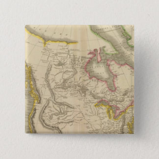 North America map 15 Cm Square Badge