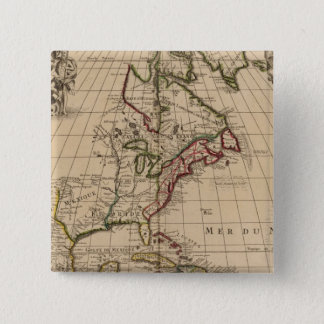 North America map 2 15 Cm Square Badge