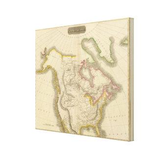North America map 2 Canvas Print