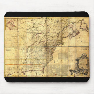 North America Map British & French Dominions 1757 Mouse Pad