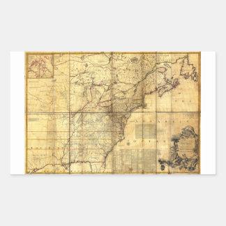 North America Map British & French Dominions 1757 Rectangular Sticker