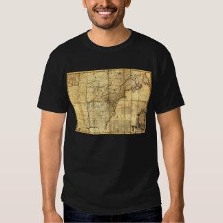 North America Map British & French Dominions 1757 Tee Shirt