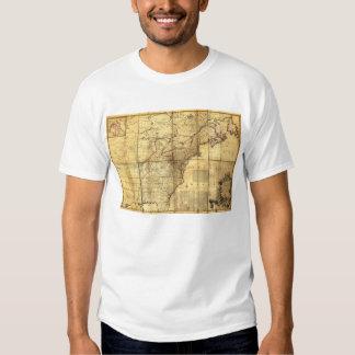 North America Map British & French Dominions 1757 Tshirt