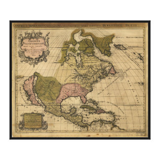 North America Map by Alexis Jaillot (1694) Canvas Prints