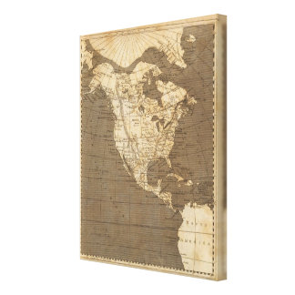 North America Map by Arrowsmith Gallery Wrapped Canvas