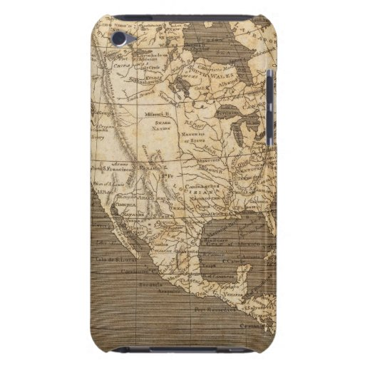 North America Map by Arrowsmith iPod Case-Mate Cases