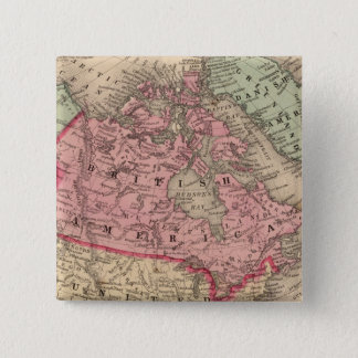 North America Map by Mitchell 15 Cm Square Badge