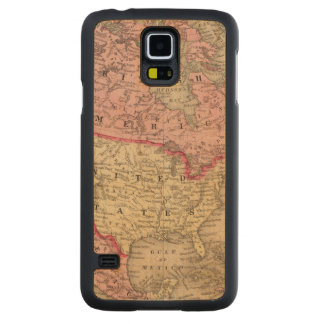 North America Map by Mitchell Carved Maple Galaxy S5 Case