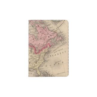 North America Map by Mitchell Passport Holder