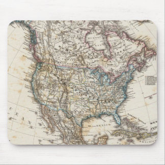 North America Map by Stieler Mouse Mat