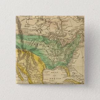 North America Map by Worcester 15 Cm Square Badge