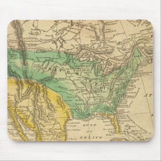 North America Map by Worcester Mouse Mat