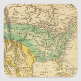North America Map by Worcester Square Sticker