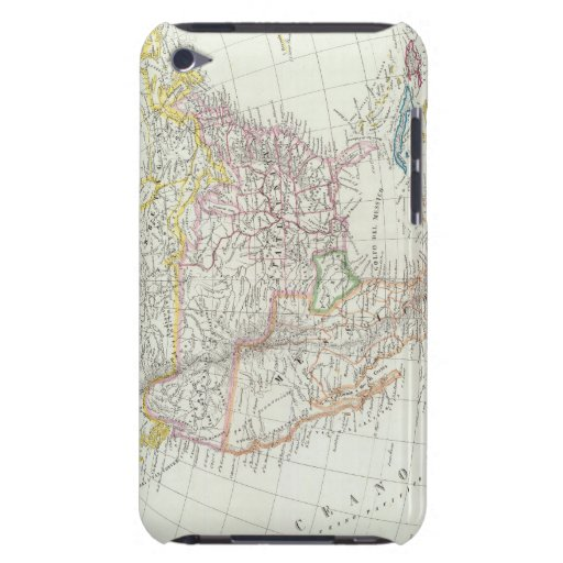 North America Map iPod Touch Cases