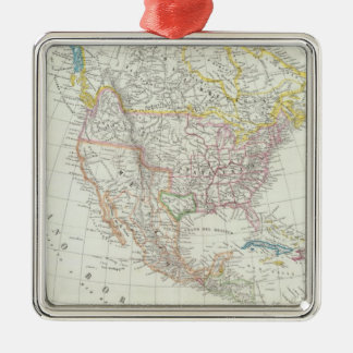 North America Map Christmas Ornament