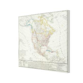North America Map Gallery Wrap Canvas